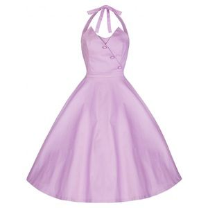 Lilac Halter Top Lindy Bop Dress, US size 20.